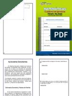 Matemáticas. Cuaderno de ejercicios. Primaria. 6to Grado