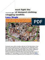 fashion must fight the scourge of dumped clothing clogging landfills