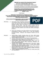 5. Surat Keputusan Kepala BPMPPT Tentang Penetapan Dan Penerapan Standar Pelayanan Pada Jenis Pelayanan 21 (Dua Puluh Satu) Perizinan Dan Non Perizinan Terpadu