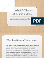 Goodwin's Theory of Music Videos