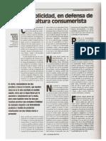 La Publicidad, En Defensa de Una Cultura Consumerista Word