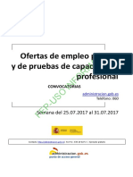 BOLETIN SEMANAL CONVOCATORIA OFERTA EMPLEO PUBLICO DEL 25 AL 31 DE JULIO DE 2017.pdf