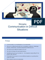 Managing Communication in Difficult Situations