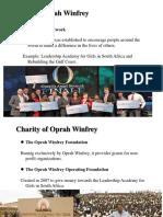 Charity of Oprah Winfrey