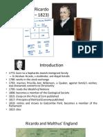 David Ricardo (1772 – 1823)