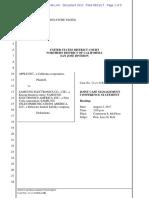 Apple v Samsung - Joint Case Management Statement