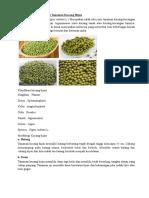 Klasifikasi Dan Morfologi Tanaman Kacang Hijau