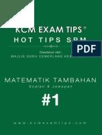 Add Math SPM KCM Exam Tips 1®