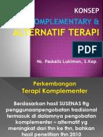 2. Konsep Complementary & Alternatif Terapi
