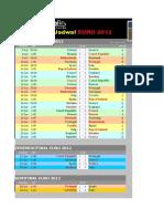 Jadwal Euro 2012 Schedule Excel