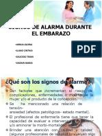 Signos y Sintomas de Alarma Durante El Embarazo