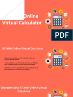 IIT JAM Virtual Calculator