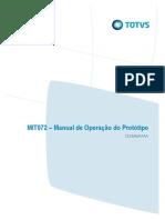 MIT072 - Manual de Operação Do Prototipo