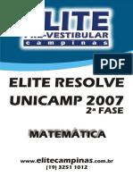 Unicamp 07 Fase2 Mat ELITE