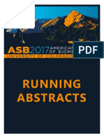 ASB2017 Running Abstracts