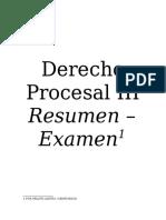 Resumen Examen Derecho Procesal III