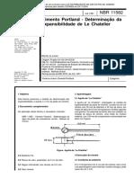 NBR 11582 - Cimento Portland - Determinacao Da Expansibilidade De Le Chatelier.pdf
