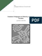 Estatutos Centro de Estudiantes Pedagogia en Hsitoria Y CSS 2013 Aprobado