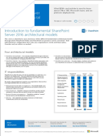 SharePoint 2016 Architectural Models