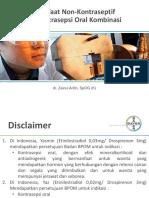 dr. Zainul Arifin. Sp.OG (K) -  Manfaat non kontraseptif pil Kontrasepsi oral kombinasi.pptx