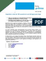 Nota de Prensa Nº 152-2017 - ALA COLCA-SIGUAS CHIVAY