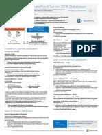 SharePoint Server 2016 Databases