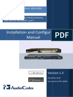 LTRT-18206 AudioCodes Enhanced Media Gateway and SBA for Microsoft Lync Installation and Configuration Manual.pdf