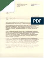 Steve Baker letter