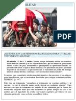 ANÁLISIS SOBRE EL TESTAMENTO MILITAR
