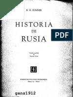 Sumner, B H - Historia de Rusia (Ed. Fondo de Cultura Economica) (C) (Ñ)