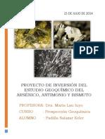 Geoquimica _ Arsenico, Antimonio y Bismuto