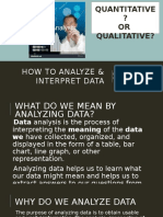 How to Analyze & Interpret Data