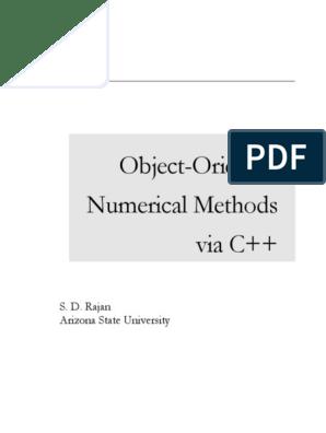 Rajan Object-Oriented Numerical Methods via C++ | Computer Program