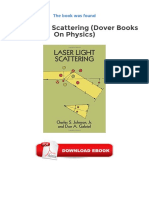 Laser Light Scattering Dover Books on Physics PDF