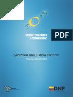 Garantizar Una Justicia Eficiente - DNP Departamento Nacional De