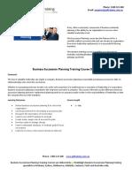 Business Succession Planning Training Course Outline - Copy