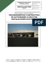 Barlobar-procedimientos e Instructivo Instalaciones Eléctricas
