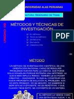 U - 09 Métodos y Técnicas de Investigación9