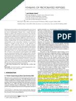 Fragmentation Pathways of Protonated Peptides