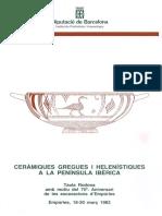 AAVV 1985 - Ceràmiques Gregues i Helenístiques a La Península Ibèrica