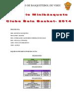 Programa Convívio Minibásquete S P S - 11 Outubro 2014