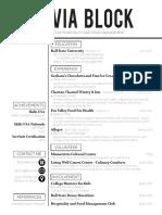 olivia block resume