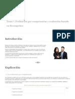Evaluación por competencias y evaluación basada en desempeños