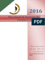 Plan Anual de Servicio Parques y Jardines 2014