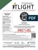 Employer Spotlights August 2017