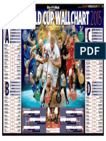 Rugby World Cup 2015 Wallchart