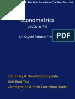 Econometric s Lecture 43