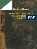 Gustavo Bueno-Sobre el analisis Filosofico del Quijote