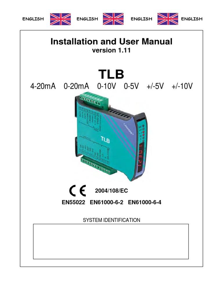 User Manual TLB   Parameter (Computer Programming)   Relay