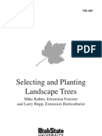 Selecting and Planting Trees and Shrubs